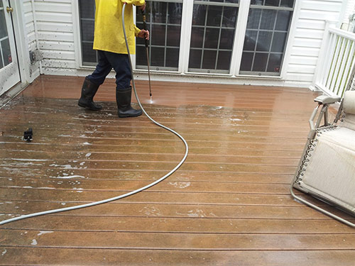Deck power washing in nassau county